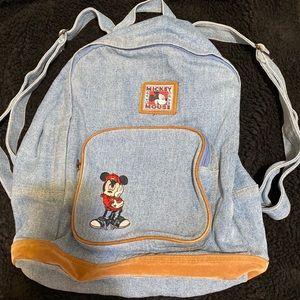 Vintage Denim Mickey Mouse Backpack